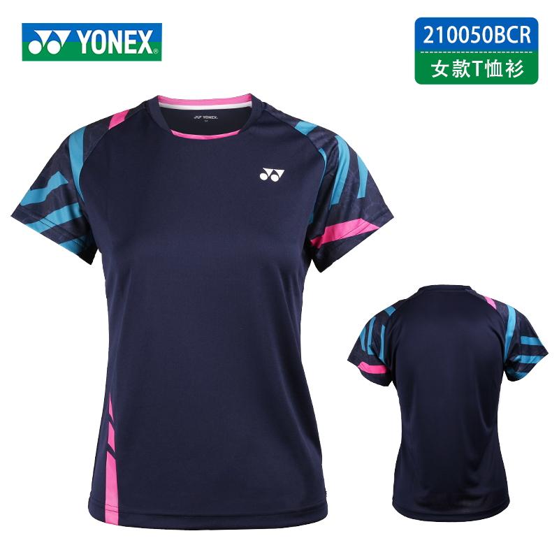 YONEX尤尼克斯 羽毛球短袖运动短袖 210050-019 女款 藏青色