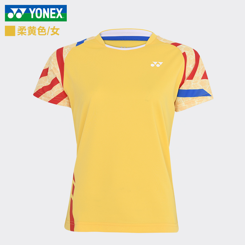 YONEX尤尼克斯 羽毛球服 速干运动服 柔黄色 210050-280 女款