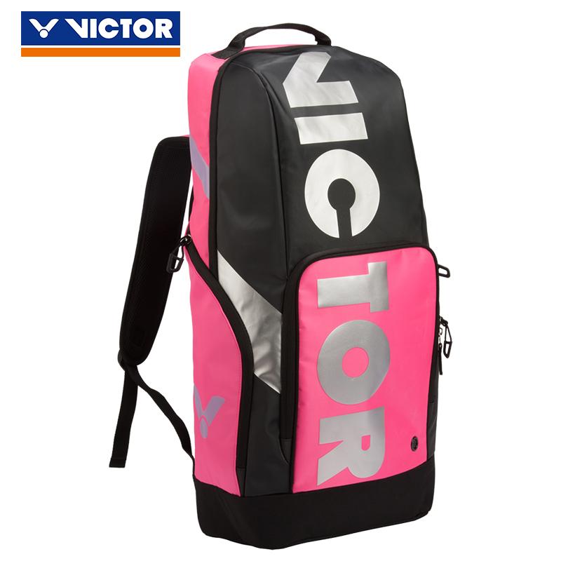 胜利VICTOR羽毛球包 BR8018QC 长型后背包 双肩 玫红色(专业之选,帅到爆)