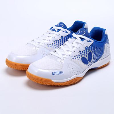 Butterfly蝴蝶L7 注册免费送18体验金鞋LEZOLINE-7 室内运动鞋L7 白蓝色 男女同款  透气防滑
