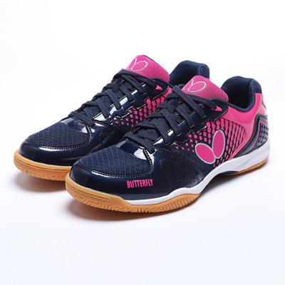 Butterfly蝴蝶L7 乒乓球鞋 LEZOLINE-7室内运动鞋L7 宝蓝/玫红色 男女同款,透气防滑