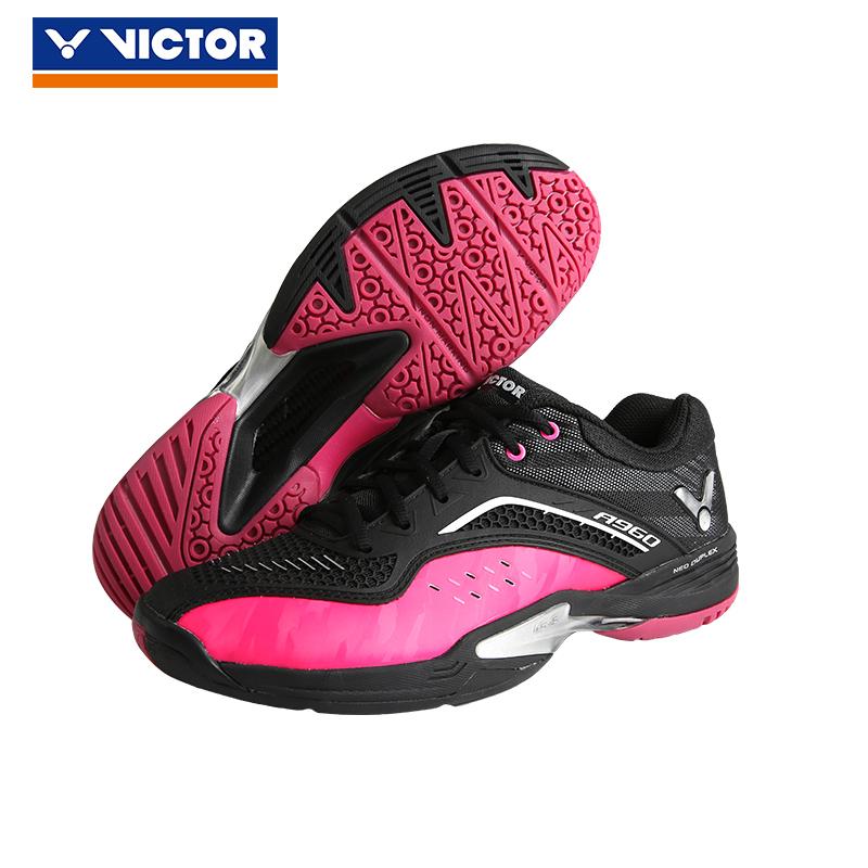 胜利VICTOR 羽毛球鞋 A960-CQ 全面型 黑/极光红 码数偏小一码