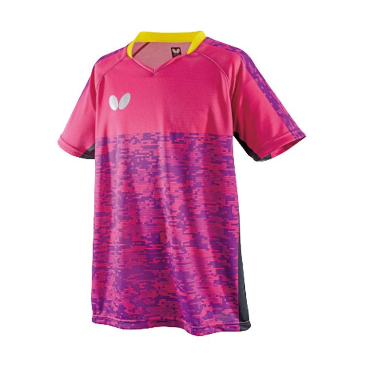 蝴蝶Butterfly 乒乓球服比赛服 BWH-829-18 男女通用款 粉色