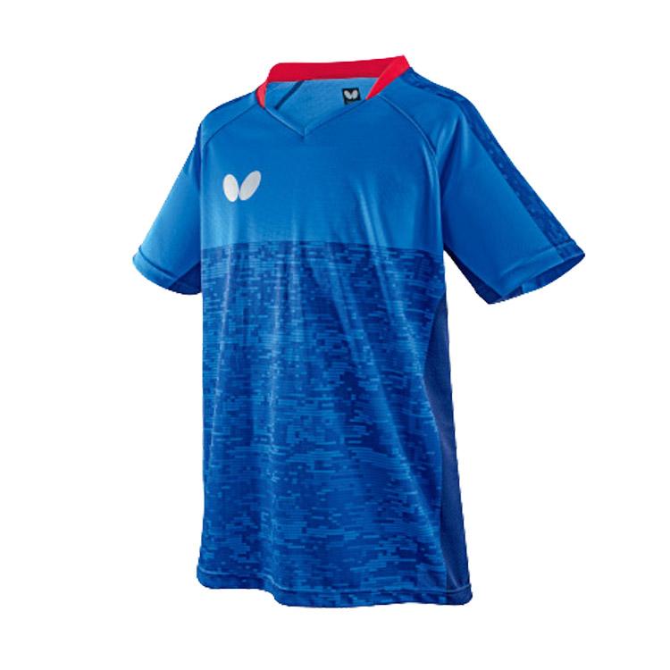 蝴蝶Butterfly 乒乓球服比赛服 BWH-829-03 男女通用款 蓝色