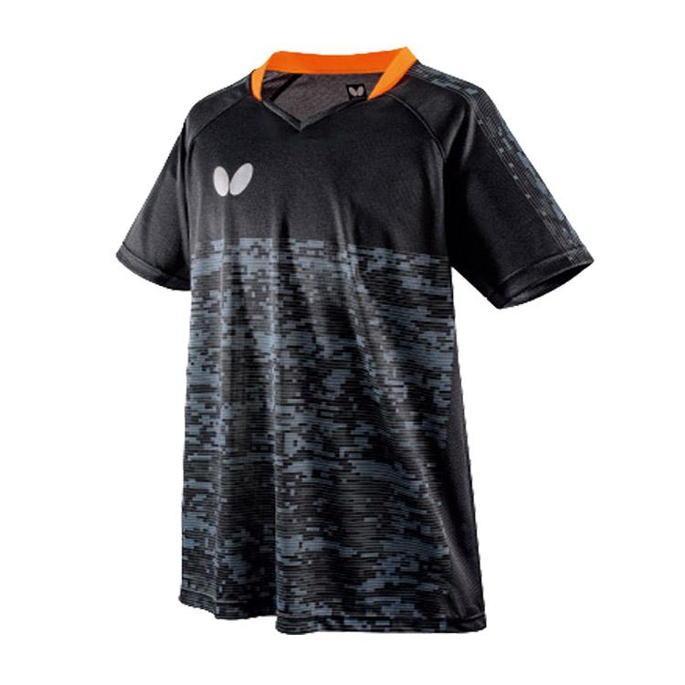 蝴蝶Butterfly 乒乓球服比赛服 BWH-829-02 男女通用款 黑色