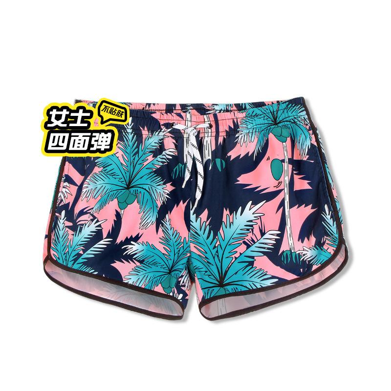 佑游 女款度假短裤 宽松速干可下水 沙滩裤 四面弹椰树风情