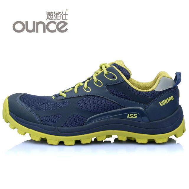OUNCE遨游仕 R100限量版越野跑鞋 藍芥末