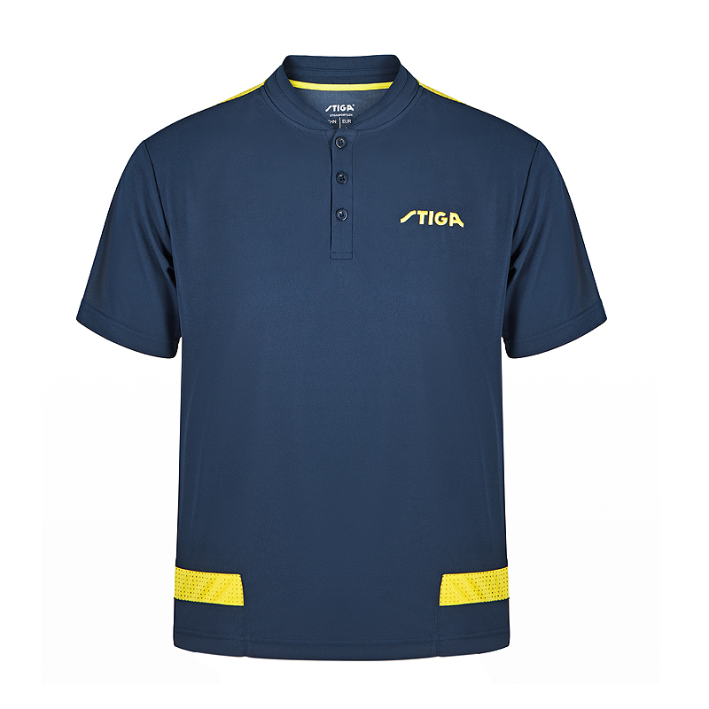 斯帝卡STIGA CA-6512 瑞典款拼接短袖 藏青色