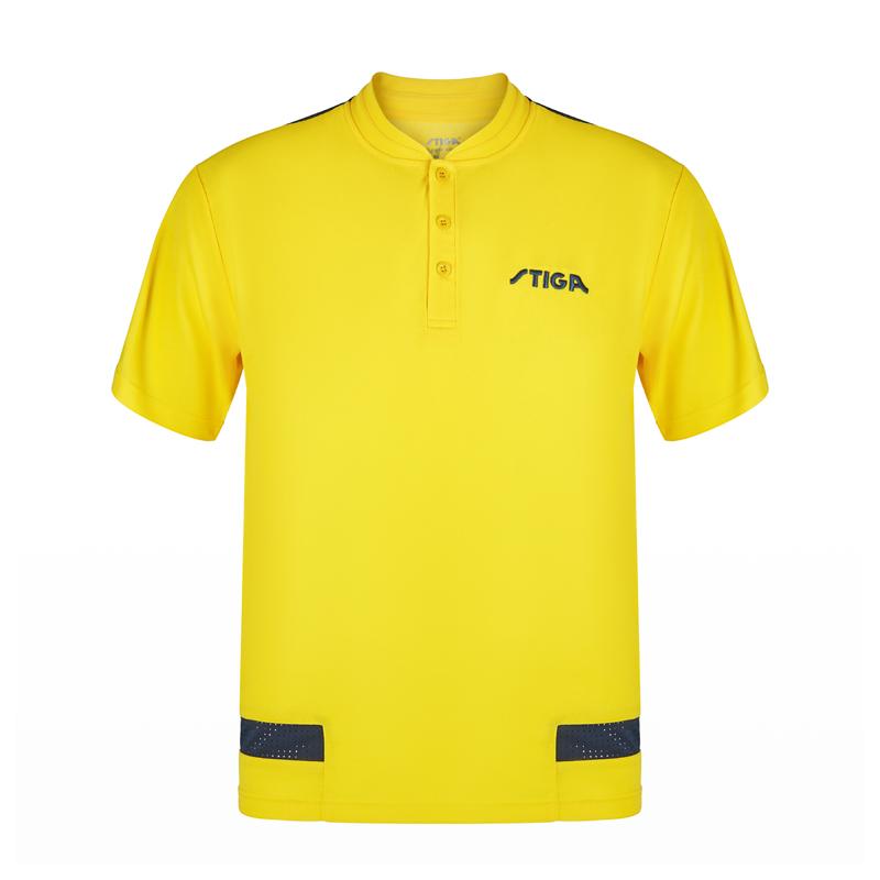 斯帝卡STIGA CA-6516 瑞典款拼接短袖 黄色