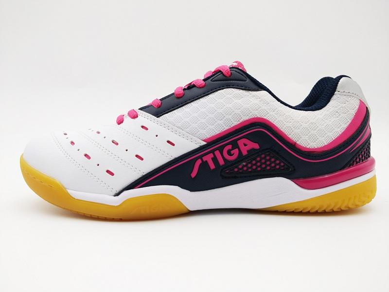 斯帝卡STIGA CS-6671 乒乓球運動鞋 白/玫紅色
