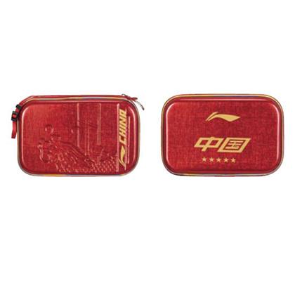李宁乒乓球拍套方形拍包PU中国龙乒乓包2只装 乒乓球拍套ABJR006