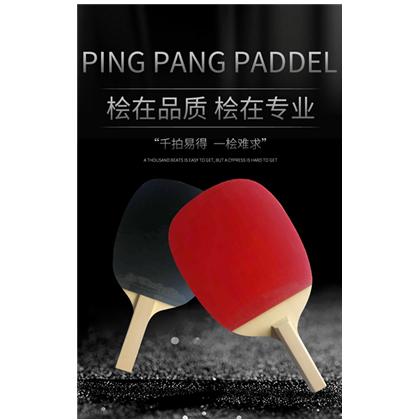 桧木坊 单桧日直球拍反胶套胶乒乓球成品拍专业级