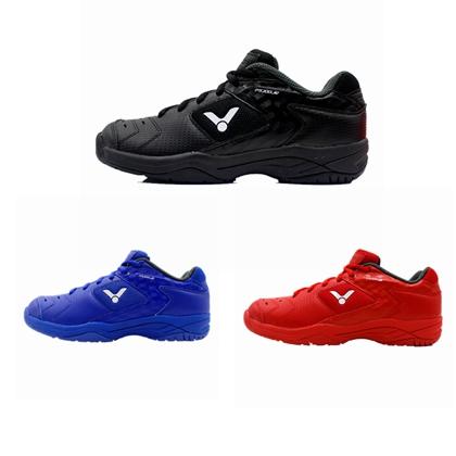 胜利VICTOR儿童羽毛球鞋 SH-P9200JR-C/F/D 红色/蓝色/黑色 少儿稳定防滑耐磨透气