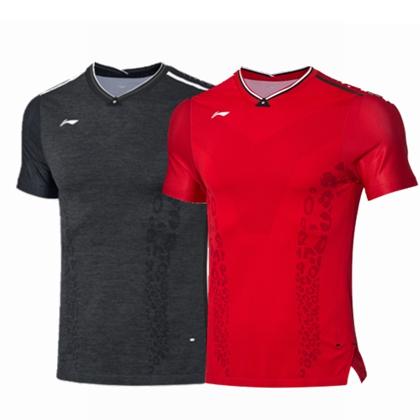 李宁比赛上衣 AAYP277男款中国羽毛球队世锦赛比赛服