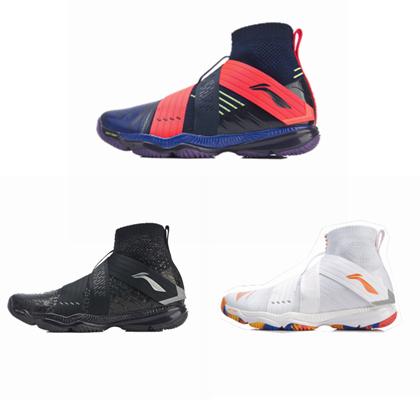 李宁变色龙四代 男款羽毛球鞋 AYAP015(Ranger4.0)(标准黑 标准白/冰橙色 水手蓝/深蓝色)三色可选 时尚潮牌羽鞋