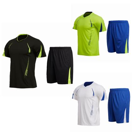 范斯蒂克运动套装 MAT1815901 男 短袖 短裤(适合跑步/羽毛球/乒乓球等多项运动)