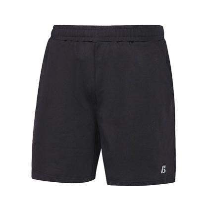 波力Bonny 羽毛球短裤 1SBU19089 黑色 中性款针织运动短裤 超弹动力面料