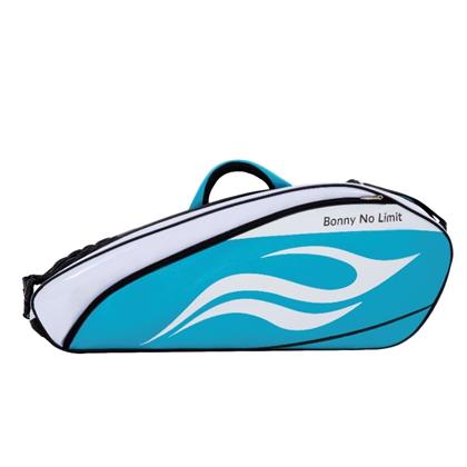 BONNY波力羽毛球包 1TB16006 蓝白色 波力自由舰系列六支装球包