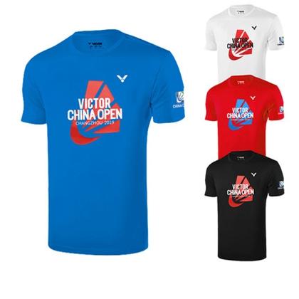 胜利VICTOR 羽毛球服 T-95008 男女款圆领短袖 速干透气不粘身 中国常州公开赛纪念衫