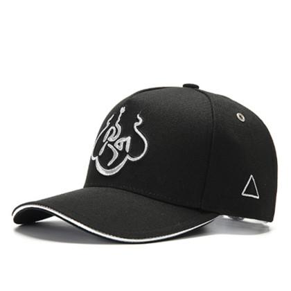 GC岗措棒球帽 喜马拉雅文化原创品牌 银色 莲花 男女通用款户外帽子棒球帽 帽围可调节!