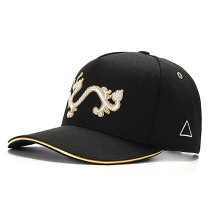 GC岗措棒球帽 喜马拉雅文化原创品牌 天龙护法系列 黑布白标 可调节帽围 男女通用旅行户外帽子