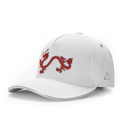 GC岗措棒球帽 喜马拉雅文化原创品牌 天龙护法系列 白布红标 可调节帽围 男女通用旅行户外帽子