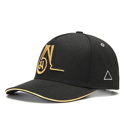 GC岗措棒球帽 喜马拉雅文化原创品牌 海系列 黑布金标 可调节帽围 男女通用旅行户外帽子
