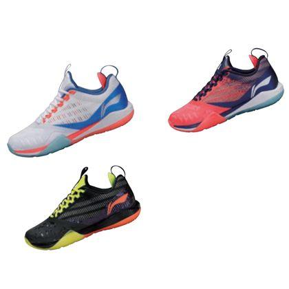 李宁羽毛球鞋 AYAQ001 酷鲨II(酷鲨二代)男款透气减震羽毛球鞋(经典再升级,谁与争锋)