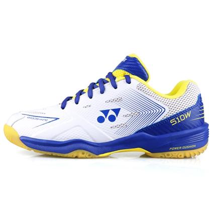 尤尼克斯YONEX羽毛球鞋 SHB510WCR 白蓝 宽楦 双层透气网面 舒适透气