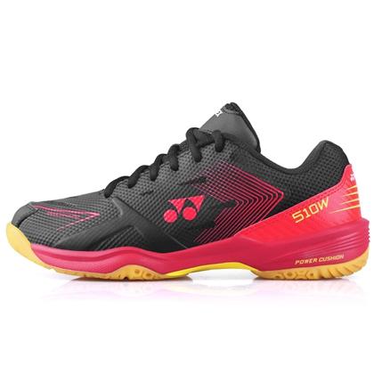 尤尼克斯YONEX羽毛球鞋 SHB510WCR 黑紅 寬楦 雙層透氣網面 舒適透氣