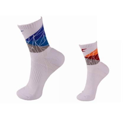 凯胜KASON 羽毛球袜 FWSL001 白橙/白蓝 双色可选