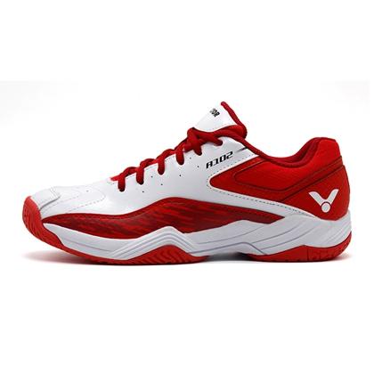胜利Victor羽毛球鞋 SH-A102AD 男女款 白/红 全面型透气高弹防滑耐磨