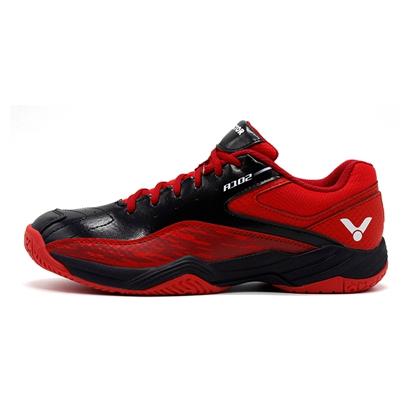 勝利Victor羽毛球鞋 SH-A102CD 男女款 黑/紅 全面型透氣高彈防滑耐磨 寬楦3.0
