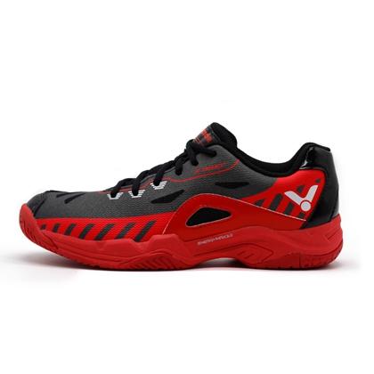 胜利Victor羽毛球鞋 SH-A610PULS-CD 男女款 黑/鲜红 全面型透气高弹防滑耐磨