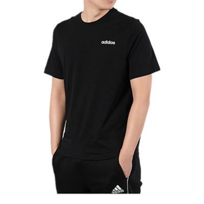 阿迪達斯Adidas 男款運動T恤 短袖上衣 DO0367 黑色(排汗透氣,親膚舒適)