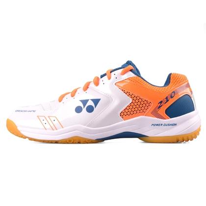 尤尼克斯YONEX羽毛球鞋 SHB210CR 白橙 男女款 双层透气网面 舒适透气 专业入门级球鞋