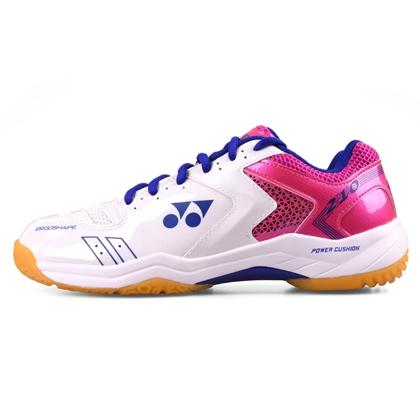 尤尼克斯YONEX羽毛球鞋 SHB210CR 白粉红 女款 双层透气网面 舒适透气 专业入门级球鞋