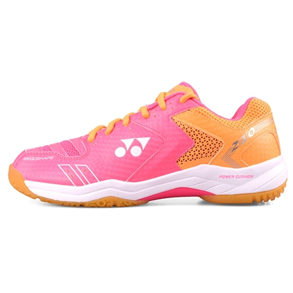 尤尼克斯YONEX羽毛球鞋 SHB210CR 霓虹粉 女款 双层透气网面 舒适透气 专业入门级球鞋