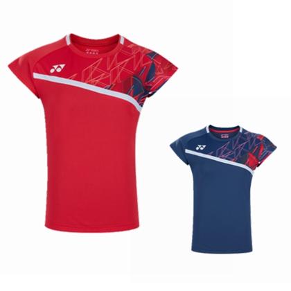 尤尼克斯YONEX 羽毛球服 20522EX 短袖运动T恤 女款 紫蓝/清新红 双色可选