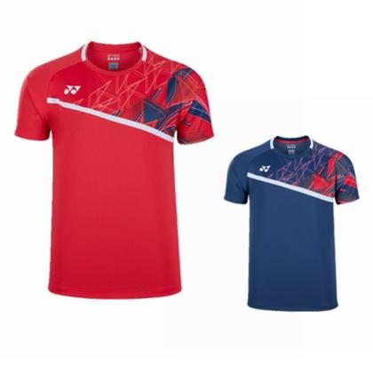 尤尼克斯YONEX 羽毛球服 10335EX 短袖运动T恤 男款 紫蓝/清新红 双色可选