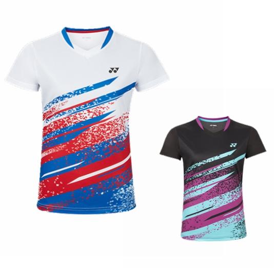 尤尼克斯YONEX 羽毛球服 210200BCR 短袖运动T恤 女款 白色/黑色 双色可选