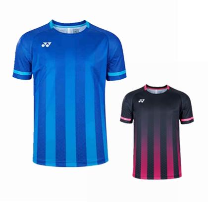 尤尼克斯YONEX 羽毛球服 10332EX 短袖运动T恤 男款 深蓝/黑色 双色可选