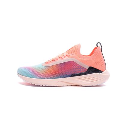 李寧跑步鞋 超輕17代 ARBQ002-7 女 熒光淺橙/熒光橘粉(輕靈反光,步步輕心)