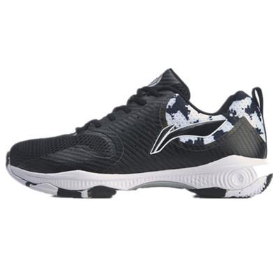 李宁羽毛球鞋 AYTQ011-1 男款黑色战戟TD羽毛球训练鞋(云减震,战戟贴合包裹设计)