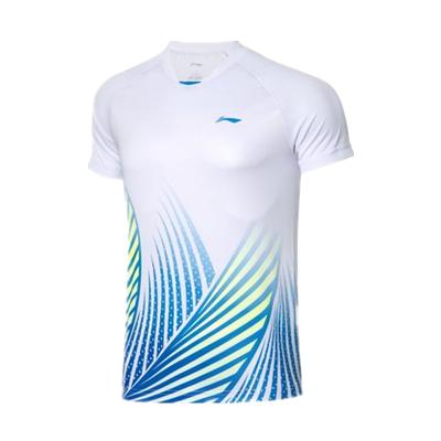 李宁比赛上衣 AAYQ067-2 男 标准白短袖T恤(汤尤杯同款图案,团购推荐款)