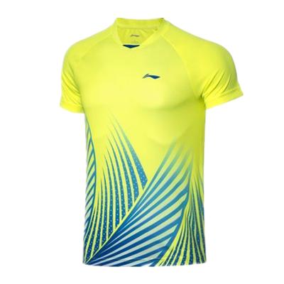李寧比賽上衣 AAYQ067-3 男 熒光亮綠短袖T恤(湯尤杯同款圖案,團購推薦款)