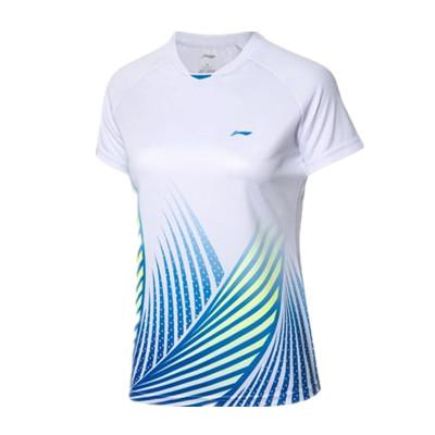 李宁比赛上衣 AAYQ074-2 女标准白短袖T恤(汤尤杯同款图案,团购推荐款)