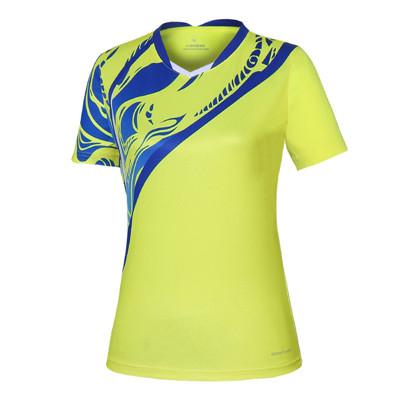 波力Bonny 运动T恤 1CTL19013 女款黄色比赛短袖T恤(闪蝶啸影,迅速反应)