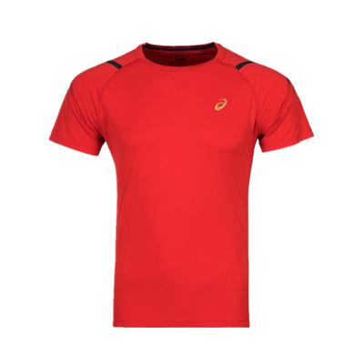 亚瑟士ASICS跑步T恤 2011A258男款红色运动T恤