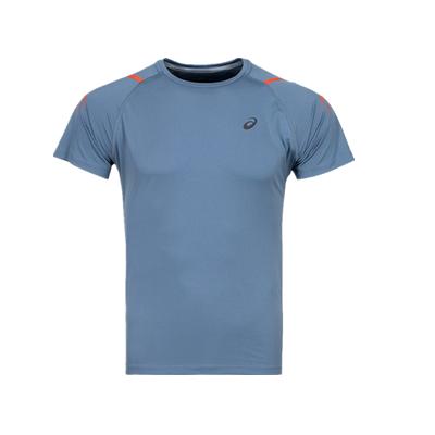 亚瑟士ASICS跑步T恤 2011A258男款灰蓝色运动T恤